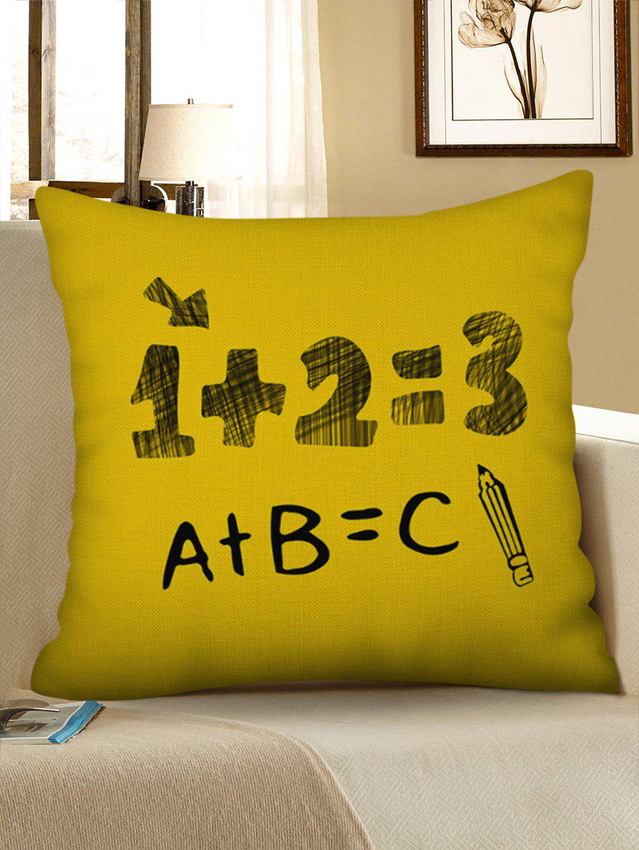 Fashion Number Letters Pattern Decorative Linen Pillowcase
