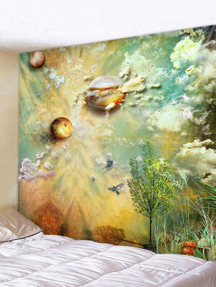 Buy Wall Hanging Art Planets and Cloud Print Tapestry