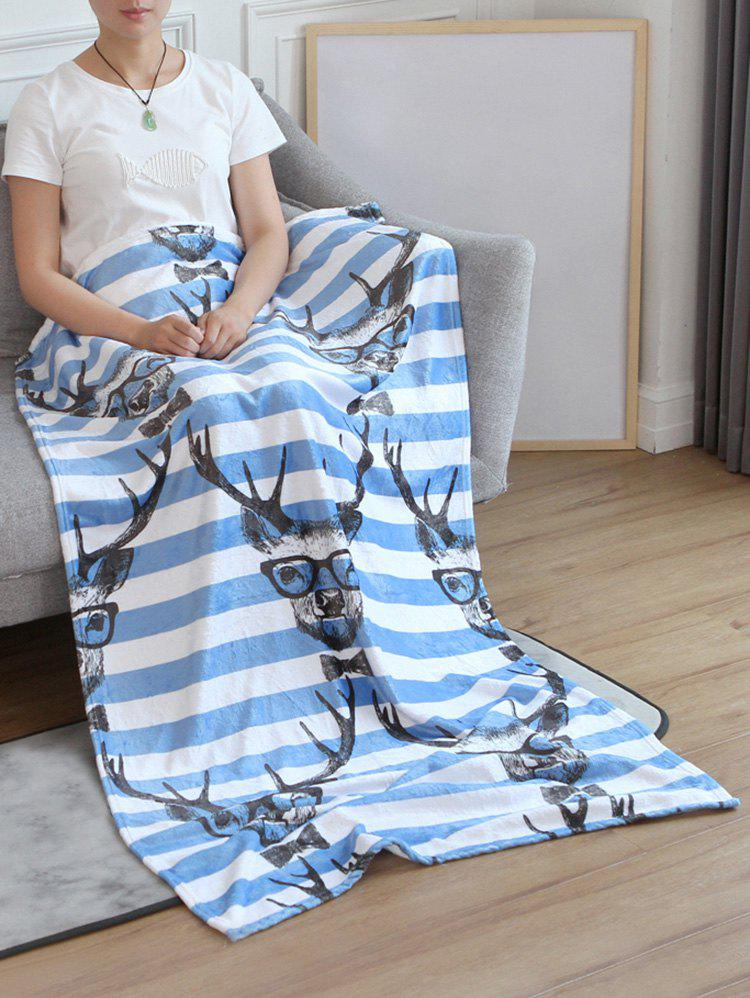 Sale Deer Striped Soft Bed Blanket
