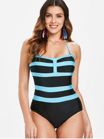 e293e8fee Sexy Halter Sleeveless Color Block Women s One-Piece Swimwear