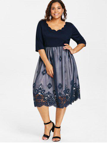 Blue Lace Vintage Dress Free Shipping Discount And Cheap Sale