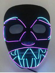Halloween Cosplay Party EL Glowing Mask -