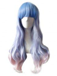 Long Full Bang Colormix Wavy Anime Cosplay Synthetic Wig -