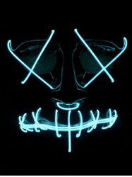 Masque Visage Entier Lumineux Style Cosplay pour Halloween -