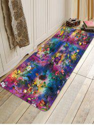 Flower Birds Tie-dye Print Water Absorption Floor Mat -