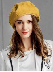 Elegant Solid Color Round Beret -