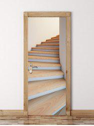 Spiral Stairs Pattern Door Cover Stickers -