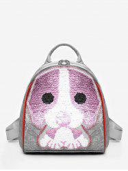 Leisure Convertible Cartoon Sequined Backpack -
