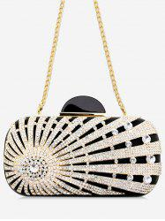 Rhinestone Fashion Metal Chain Clutch for Party -