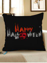 Happy Halloween Ghost Print Decorative Sofa Linen Pillowcase -