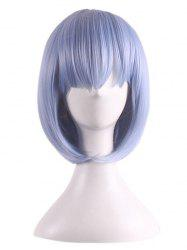 Short Straight Bob Synthetic Rem Ram Anime Characters Cosplay Wig -