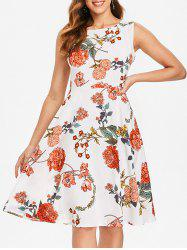 Sleeveless Floral Print Dress -
