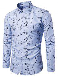 Allover Printed Button Up Casual Shirt -