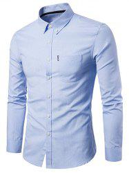 Slim Fit Solid Color Business Shirt -
