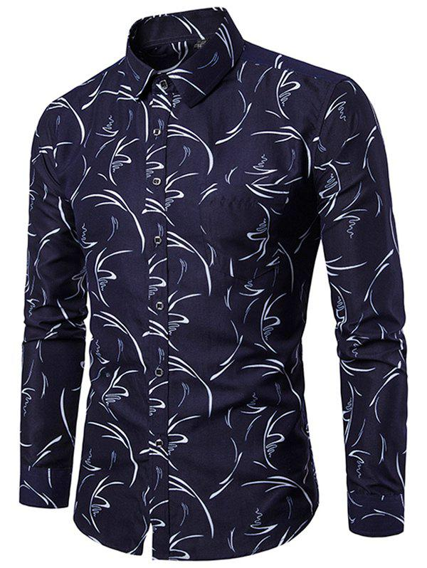 Fashion Allover Printed Button Up Casual Shirt