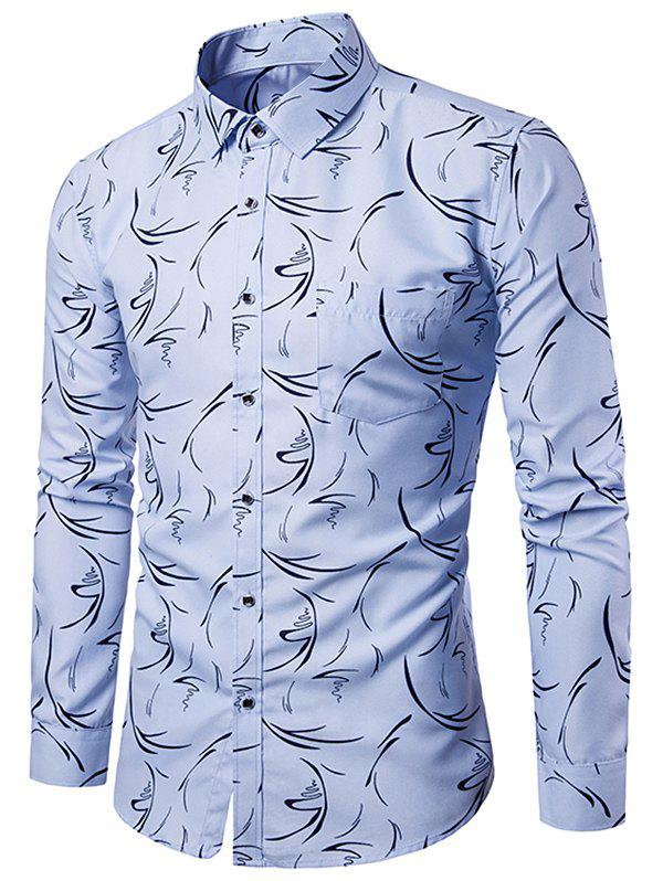Outfits Allover Printed Button Up Casual Shirt