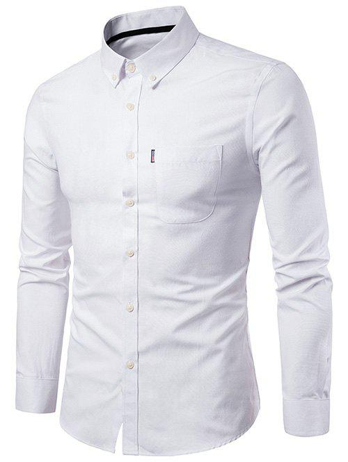 Store Slim Fit Solid Color Business Shirt