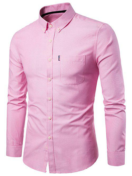 Affordable Slim Fit Solid Color Business Shirt