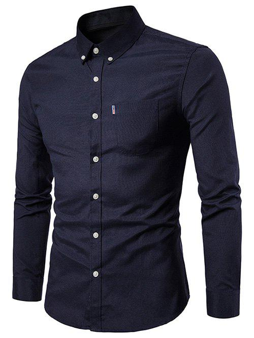 Outfits Slim Fit Solid Color Business Shirt