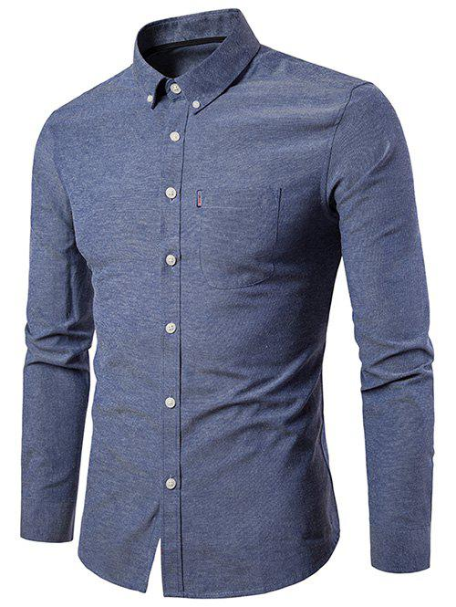 New Slim Fit Solid Color Business Shirt