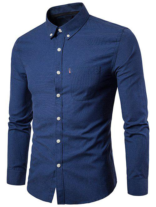 Buy Slim Fit Solid Color Business Shirt