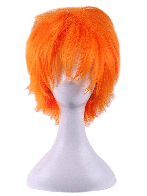 Unique Short Straight Anime Cosplay Synthetic Wig