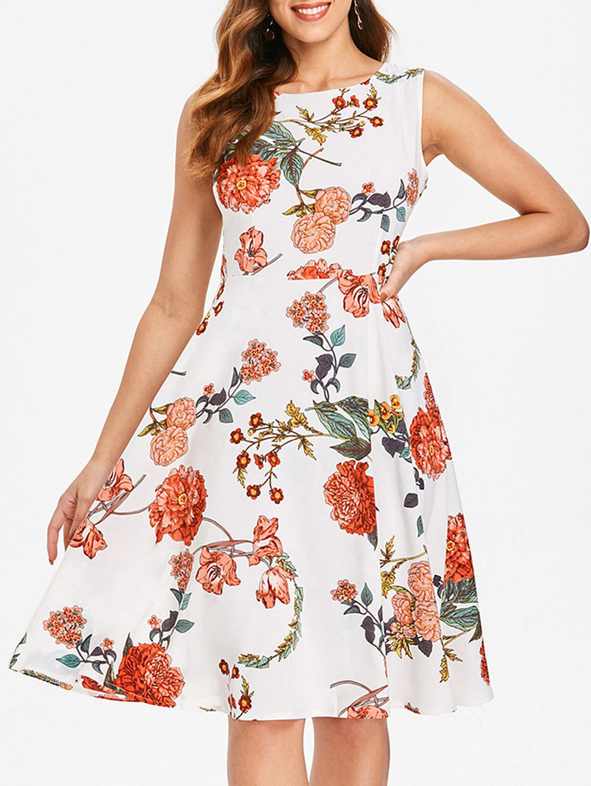 Buy Sleeveless Floral Print Dress