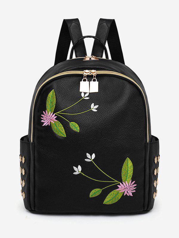 Discount Studded Patchwork Embroidery Leisure Backpack