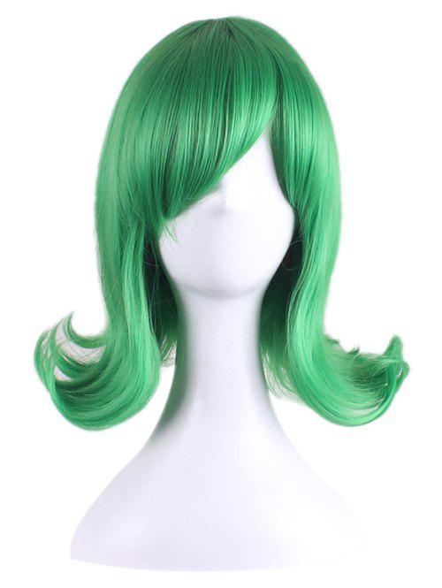 Sale Short Tail Upwards Straight Anime One Punch Man Tatsumaki Cosplay Synthetic Wig