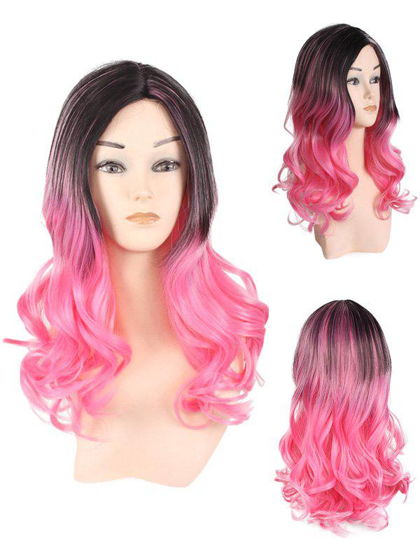 Fancy Long Center Parting Colormix Wavy Party Synthetic Wig