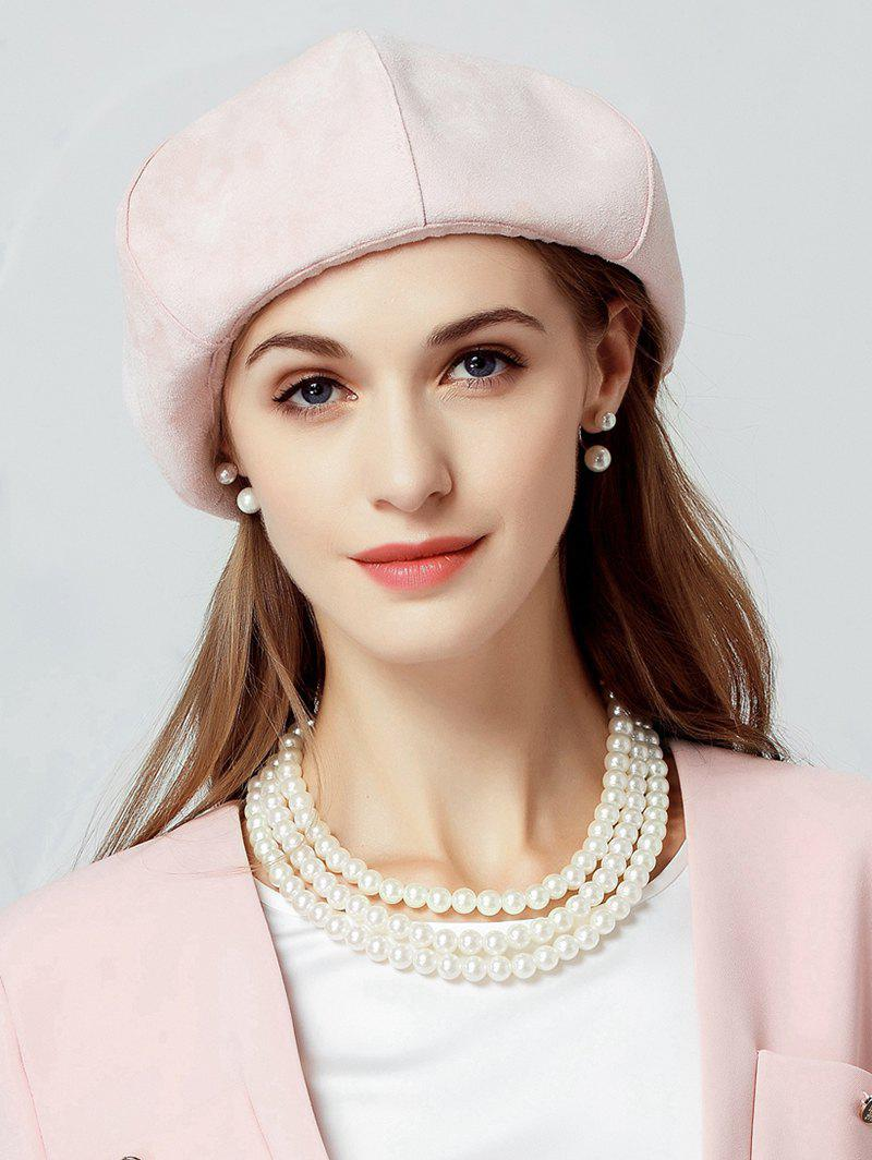 New Elegant Solid Color Round Beret