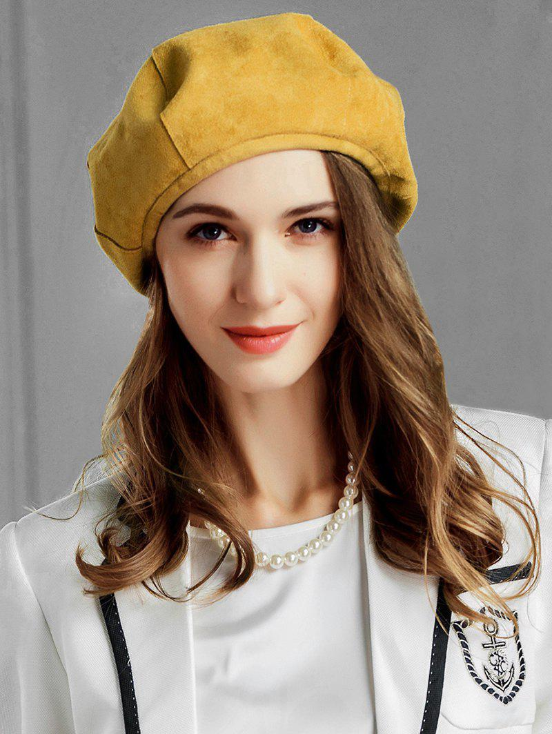 Outfits Elegant Solid Color Round Beret