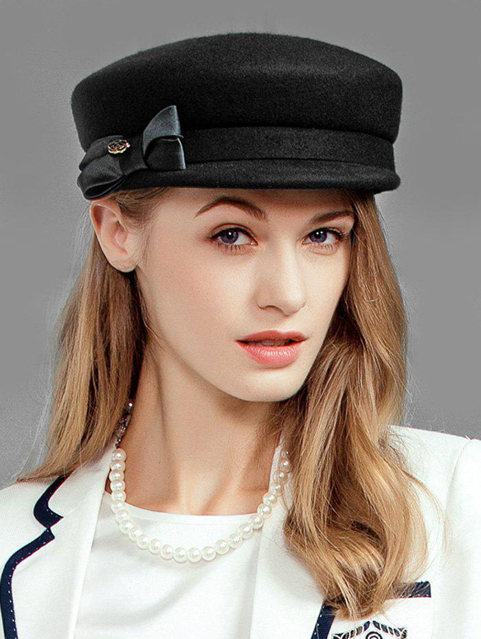 New British Style Solid Color Bowknot Army Hat