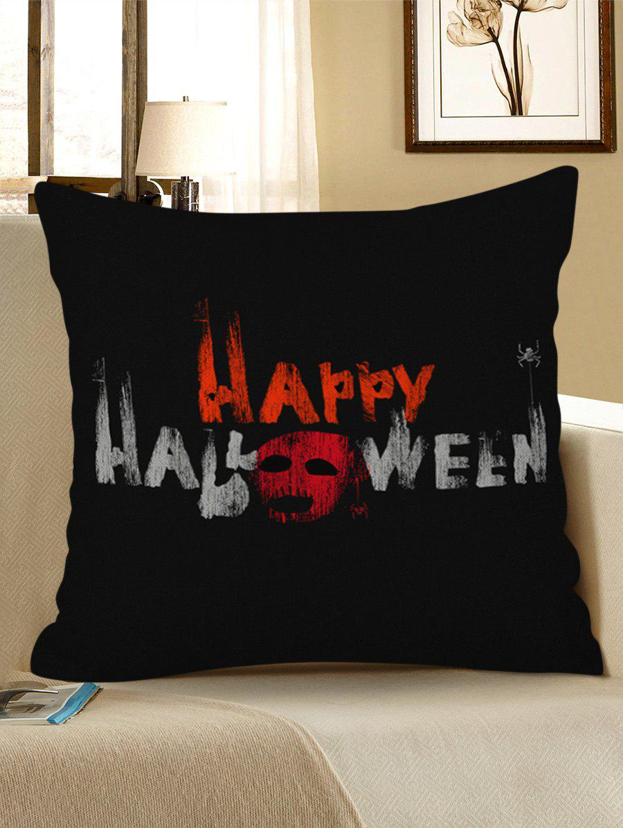 Hot Happy Halloween Ghost Print Decorative Sofa Linen Pillowcase