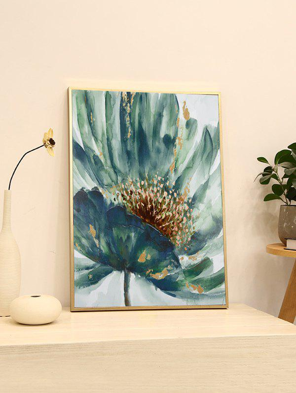 Trendy DIY Frame Flower Printed Detachable Wall Painting