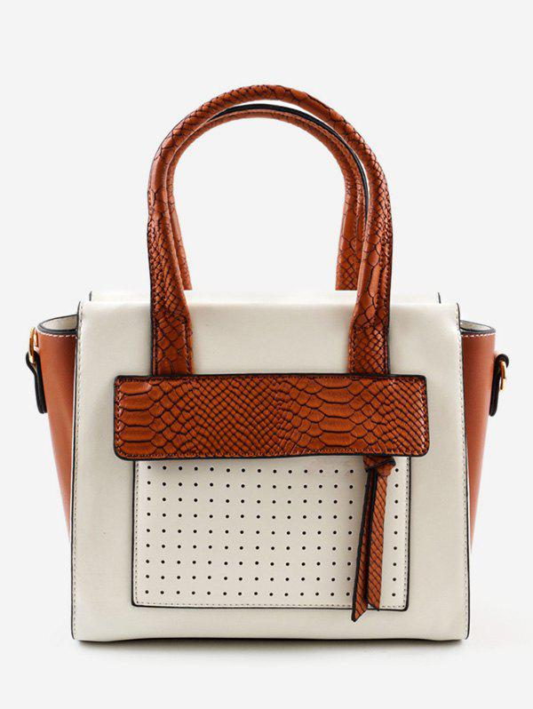 Discount Color Block Going Out Leisure Handbag