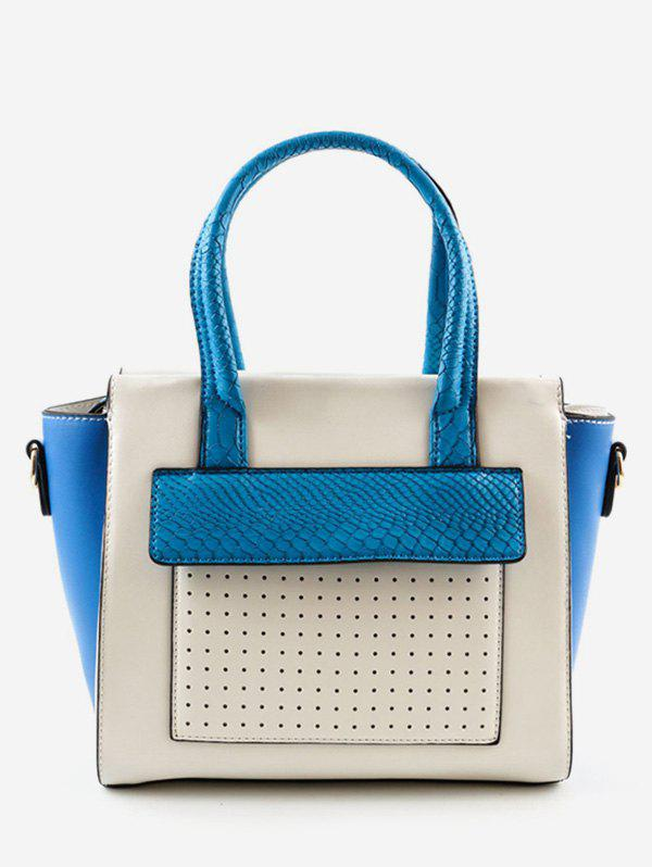 Shop Color Block Going Out Leisure Handbag