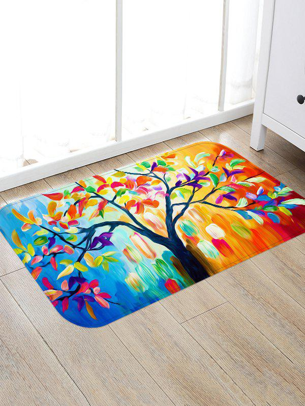 Fashion Oil Painting Tree Print Water Absorption Floor Mat