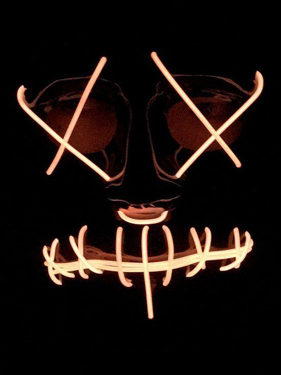 New Halloween Cosplay Full Face Glowing Mask