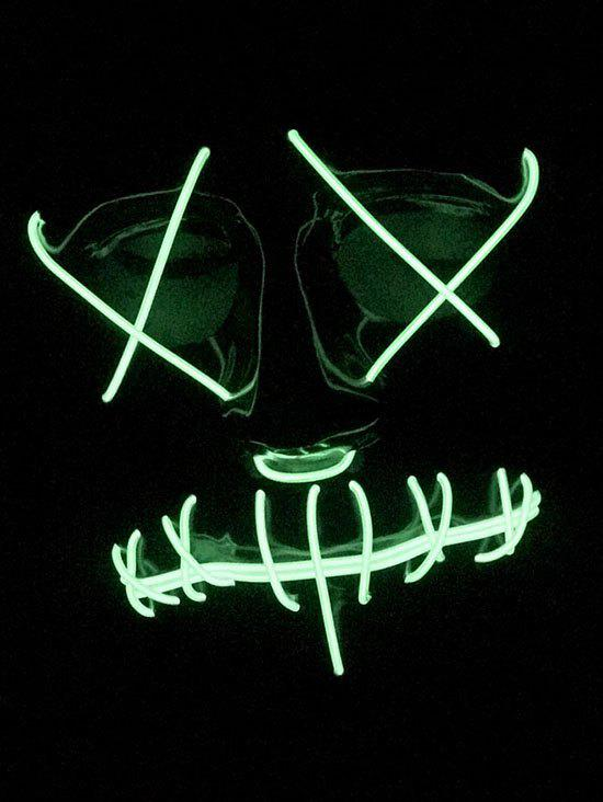 Masque Visage Entier Lumineux Style Cosplay pour Halloween