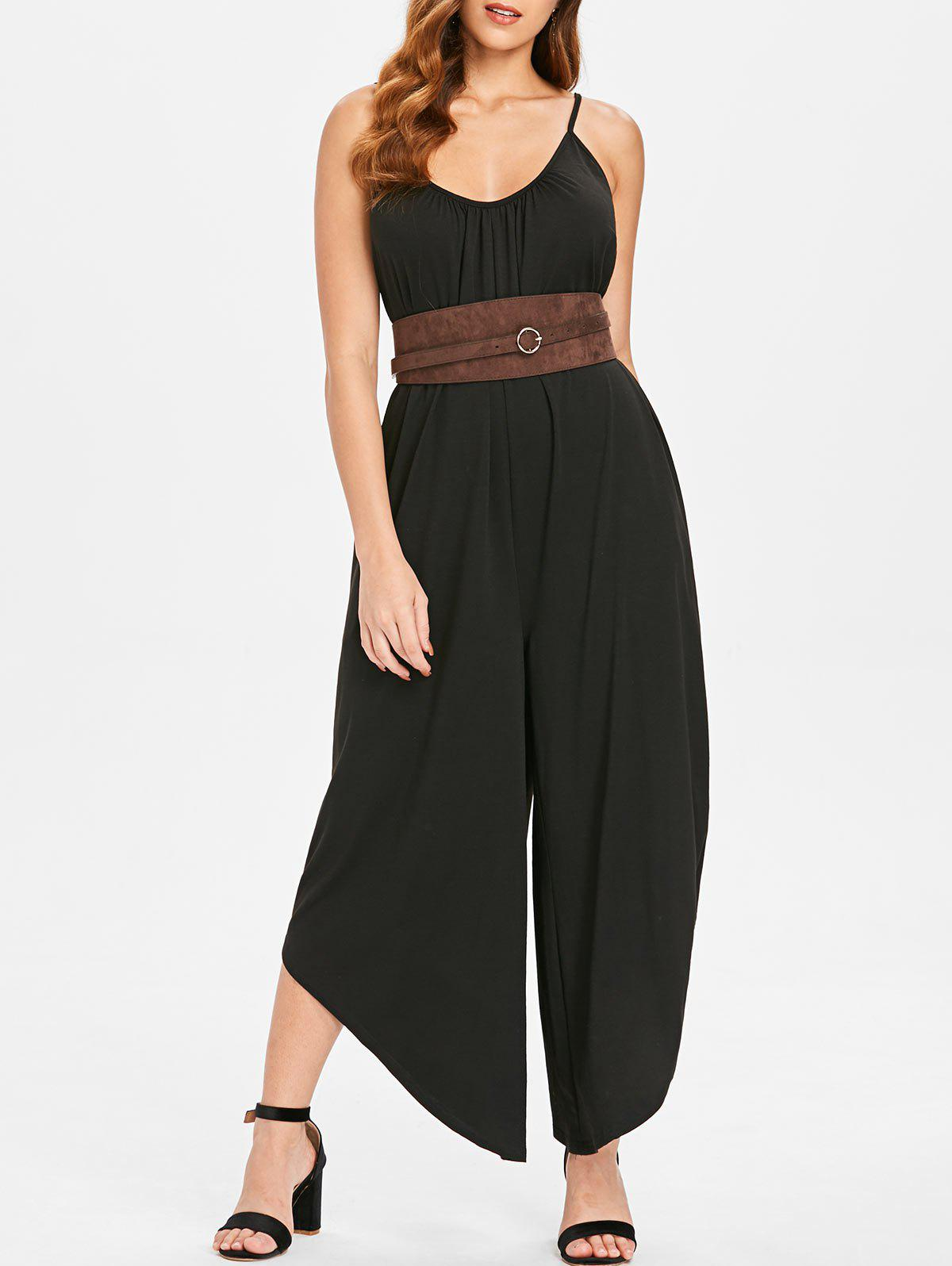 Shops Plain Cami Strap Jumpsuit