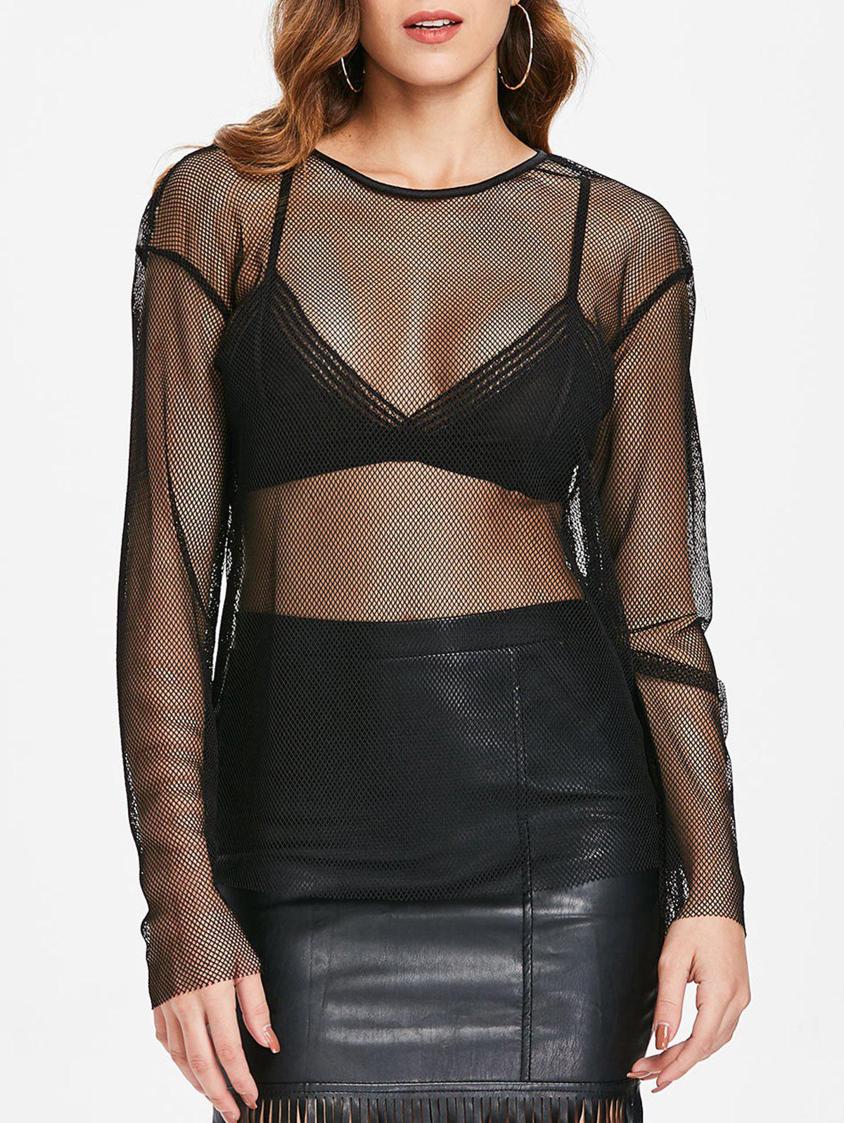 Store Mesh See Through Top