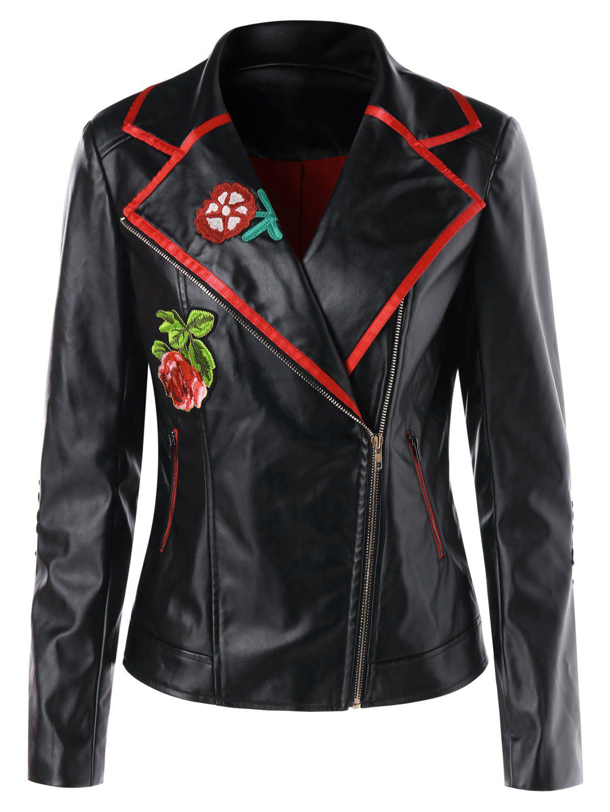 Discount Faux Leather Motorcycle Jacket
