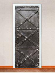 Retro Iron Sheet Pattern Door Cover Stickers -