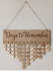 Days to Remember Wall Hanging DIY Wood Calendar -