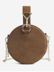 Chic Round Metallic Handbag -