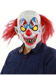 Horror Clown Halloween Mask with Hair Wig -