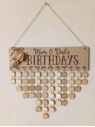 DIY Wall Hanging Birthday Reminder Wood Sign Board -