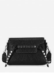 Leisure Shopping Studded Crossbody Bag -
