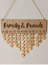 Family and Friends Birthday Calendar DIY Wooden Reminder Board -